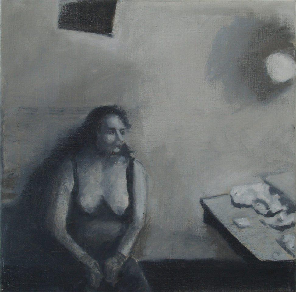 """Ascucena"" olie/doek 40x40 cm. 2015"