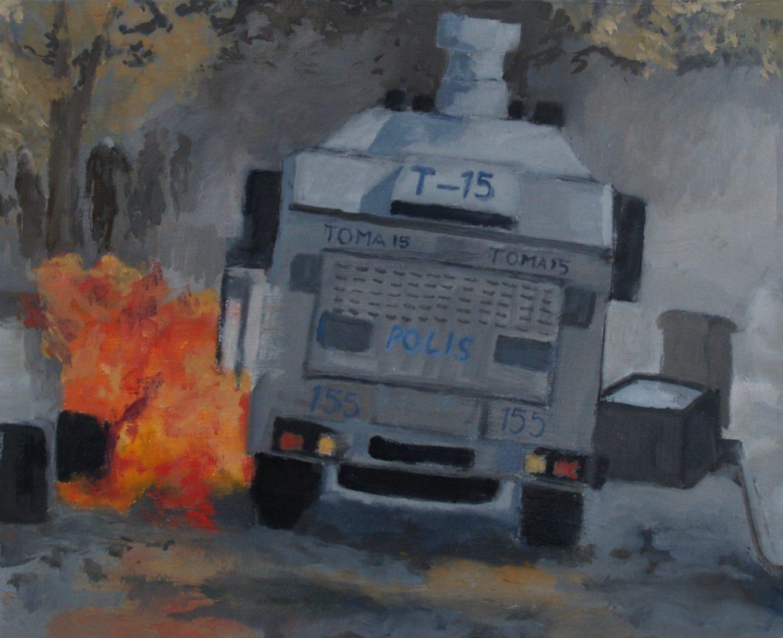 """T-15"" olie/paneel 40x50 cm. 2015"
