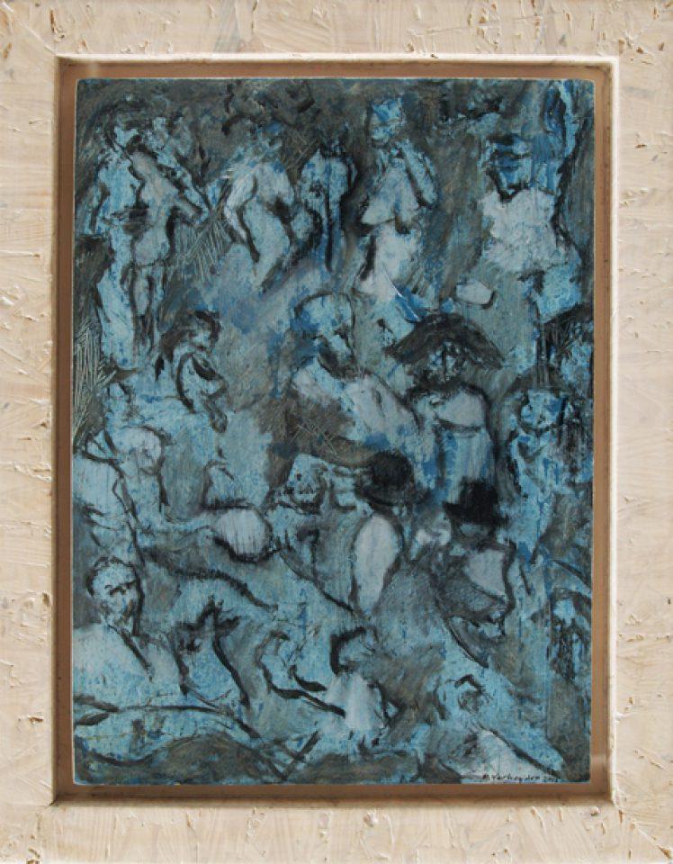 """""""notities zonder titel"""" olie/papier/paneel 40x30 cm. 2015"""