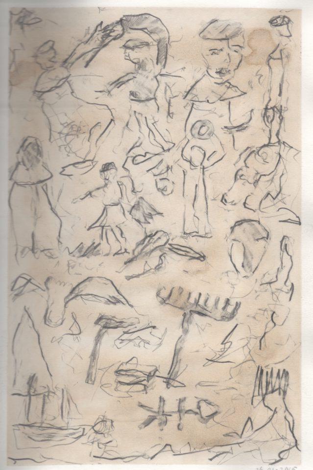 """dagboeknotitie 26-01"" aquarel+potlood/papier 29x21 cm. 2015"