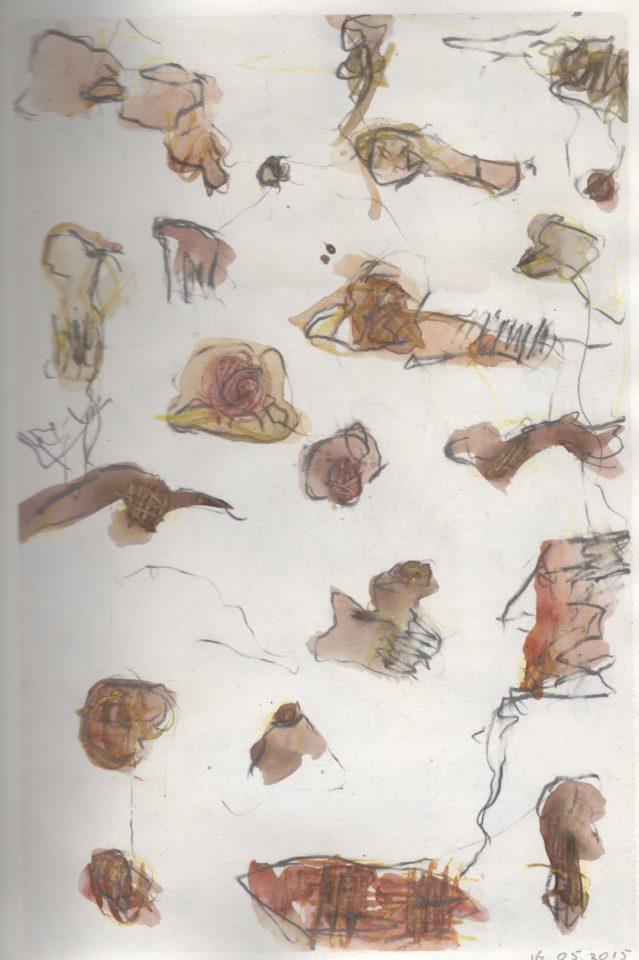 """dagboeknotitie 16-05"" aquarel+potlood/papier 29x21 cm. 2015"