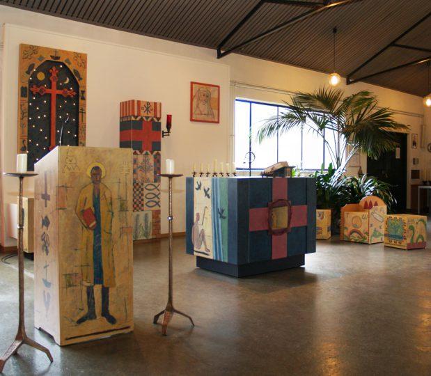 interieur Edith Steinkapel te Nieuw Bergen. 2014