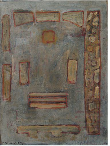 """""""Studie voor Grundriß"""" acryl en alkyd/papier 40x30 cm 2007"""