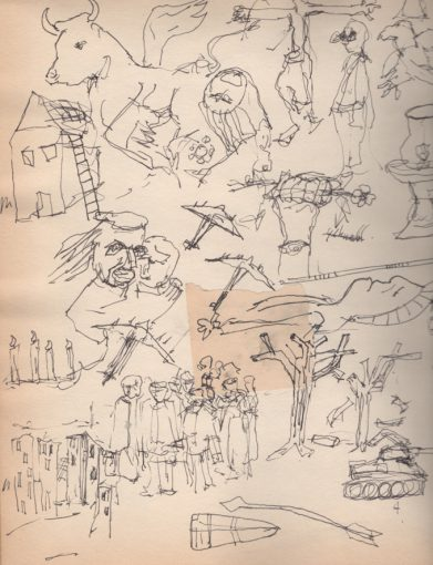 """Studie zonder titel"" inkt/papier 30x24 cm 2013"