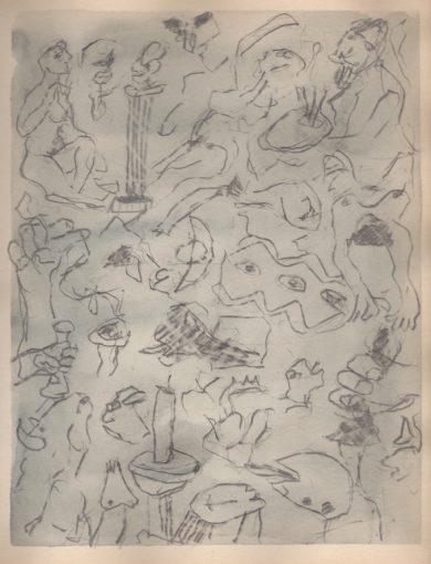 """""""Studie zonder titel"""" potlood+aquarel/papier 30x24 cm 2014"""