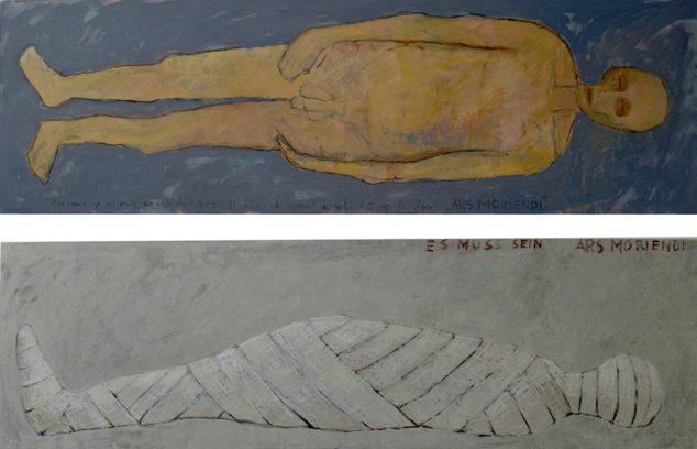 """""""Es muss sein – Ars Moriendi"""" alkyd/paneel 61x195 cm (2x) 2007"""