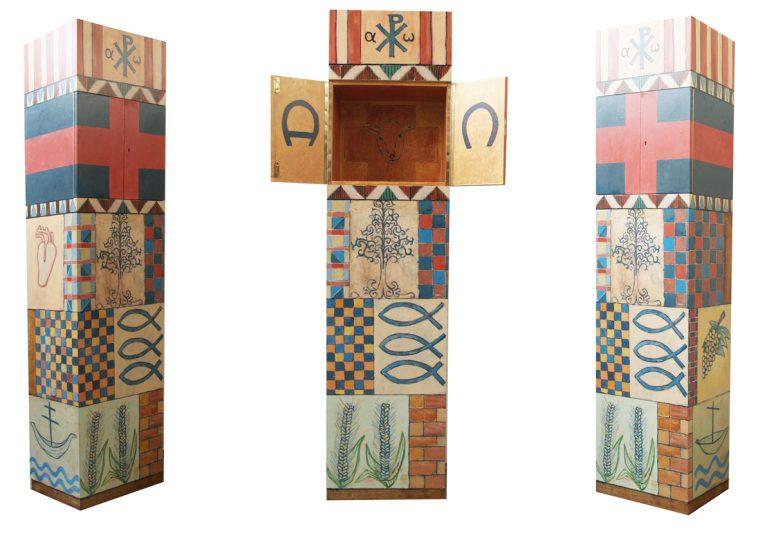 Tabernakel voor de Edith Steinkapel te Nieuw-Bergen olie/hout 215x40x45 cm. 2013